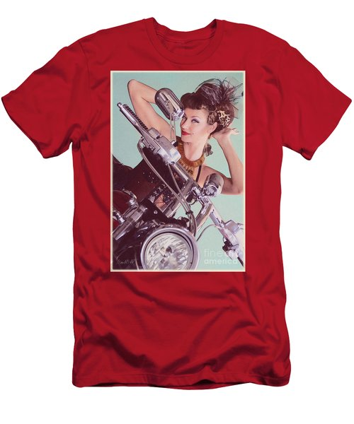 Burlesque Biker -portrait Men's T-Shirt (Athletic Fit)