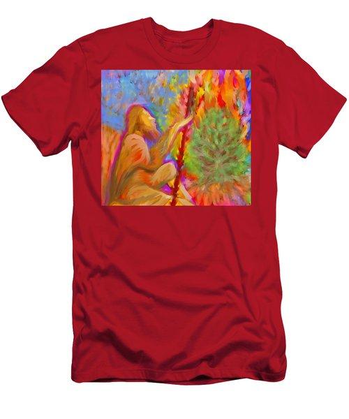 Burning Bush Of Yhwh Men's T-Shirt (Athletic Fit)