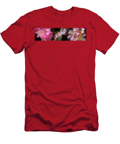 Butterfly Nebula With Iris And Pink Men's T-Shirt (Athletic Fit)
