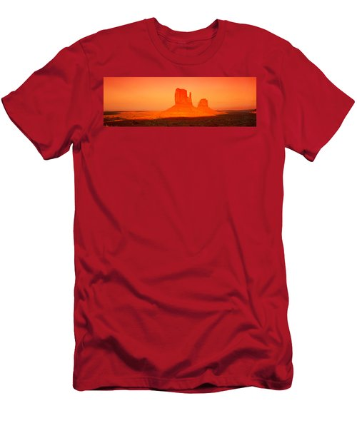 Buttes At Sunrise, The Mittens Men's T-Shirt (Athletic Fit)