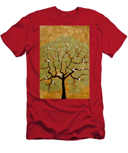 By The Tree Re-painted Men's T-Shirt (Athletic Fit)