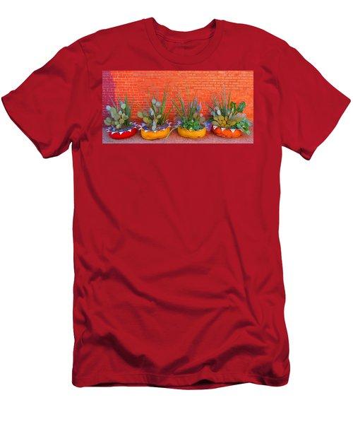 Cacti Quartet Men's T-Shirt (Athletic Fit)