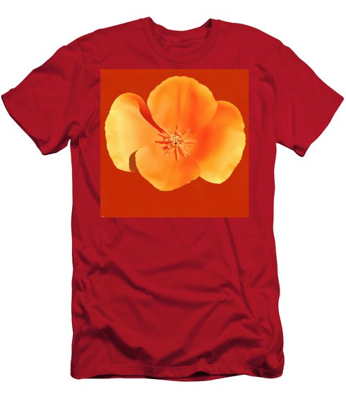 California Poppy Painting Men's T-Shirt (Athletic Fit)