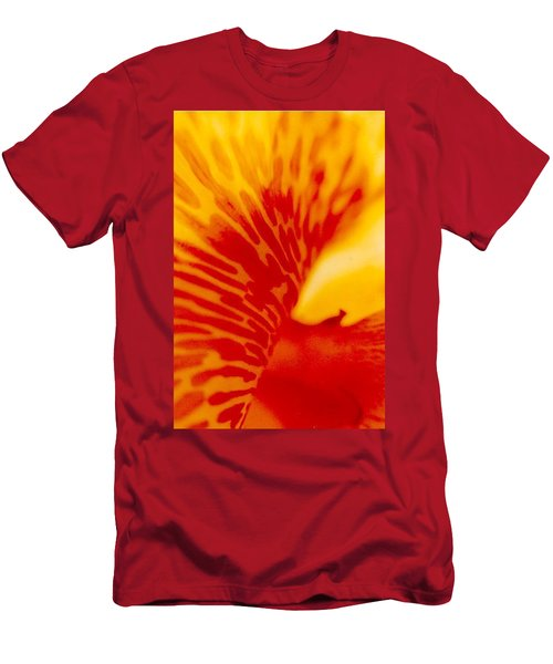 Men's T-Shirt (Slim Fit) featuring the photograph Canna Lilly by Michael Hoard