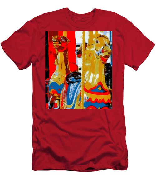 Carousel Horses Pop Art Men's T-Shirt (Athletic Fit)