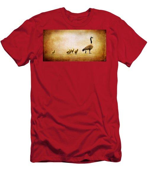 Catch Up Little Gosling Men's T-Shirt (Athletic Fit)