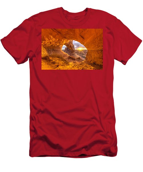 Men's T-Shirt (Athletic Fit) featuring the photograph Cave Arch by Dustin  LeFevre