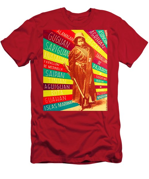 Men's T-Shirt (Athletic Fit) featuring the painting Chamorro Revolutionary by Michelle Dallocchio