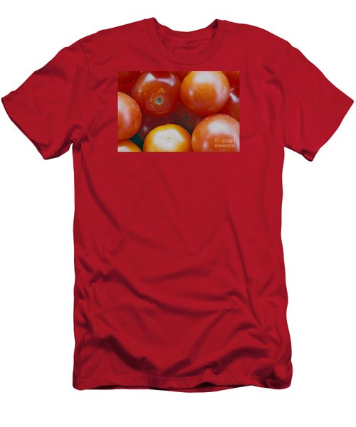 Men's T-Shirt (Slim Fit) featuring the photograph Cherry Tomatoes by Cassandra Buckley