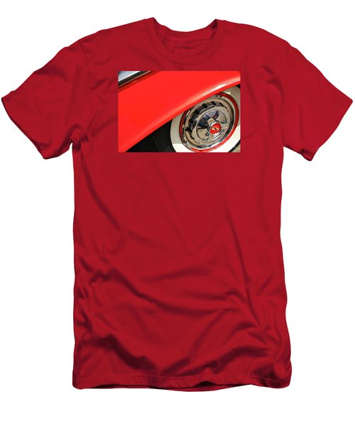 Men's T-Shirt (Slim Fit) featuring the photograph 1955 Chevy Rim by Linda Bianic