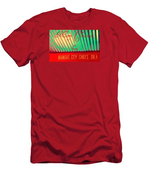 Chiefs Christmas Men's T-Shirt (Slim Fit) by Chris Berry