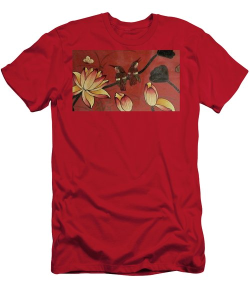 Chinese Red Lacquer Chest Detail Men's T-Shirt (Athletic Fit)