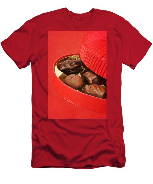 Men's T-Shirt (Slim Fit) featuring the photograph Chocolate Candy by Vizual Studio