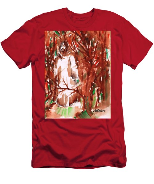 Christ In The Forest Men's T-Shirt (Athletic Fit)