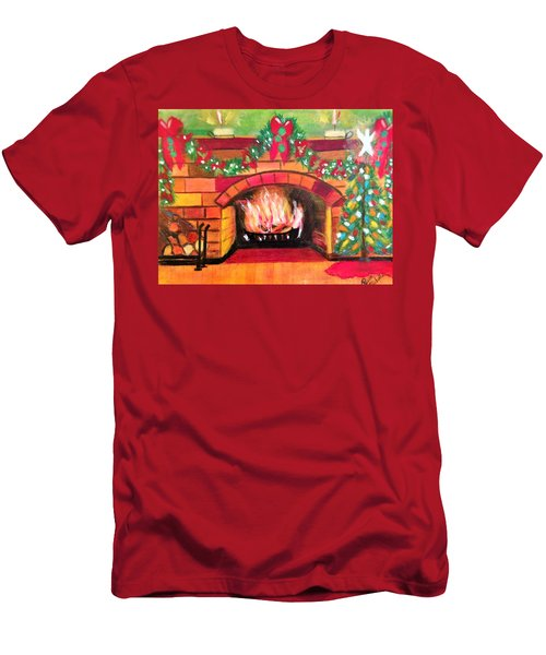 Christmas At The Cabin Men's T-Shirt (Athletic Fit)