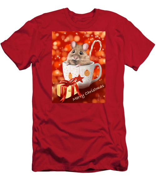 Christmas Cup Men's T-Shirt (Slim Fit) by Veronica Minozzi