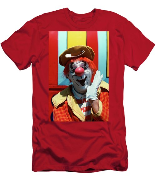 Circus Clown Looking At Camera Men's T-Shirt (Athletic Fit)