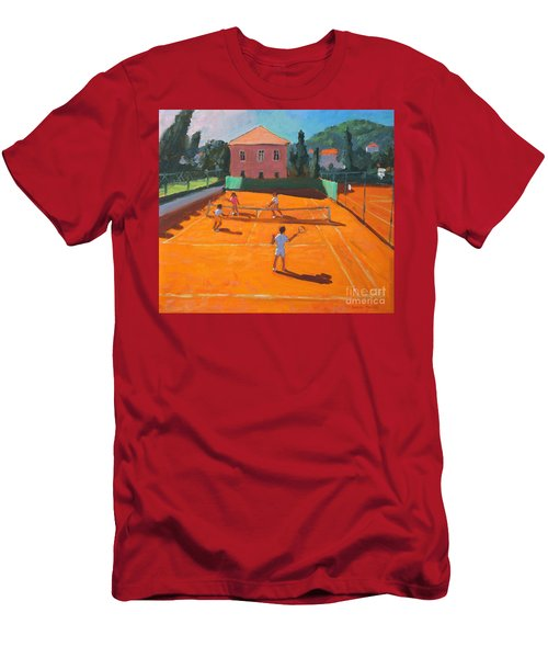 Clay Court Tennis Men's T-Shirt (Athletic Fit)