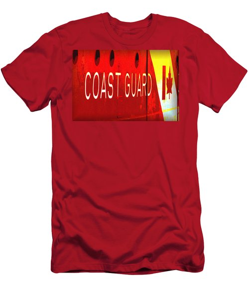 Coast Guard Du Canada Men's T-Shirt (Slim Fit) by Nadalyn Larsen
