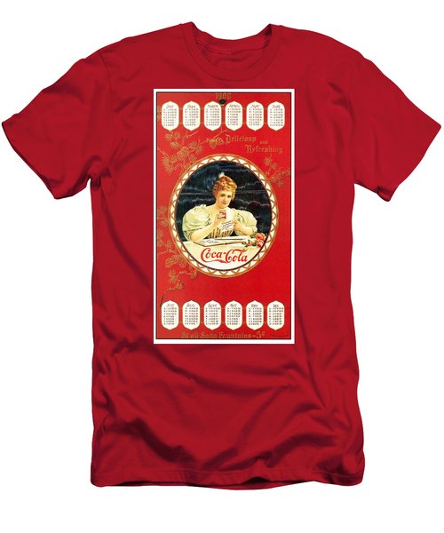 Coca - Cola Vintage Poster Calendar Men's T-Shirt (Athletic Fit)