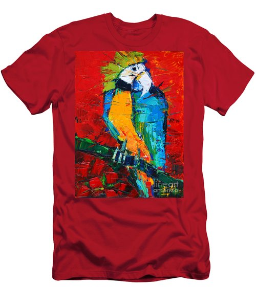 Coco The Talkative Parrot Men's T-Shirt (Athletic Fit)