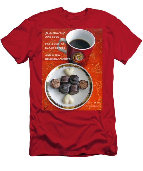 Men's T-Shirt (Slim Fit) featuring the photograph Coffee Season by Ausra Huntington nee Paulauskaite