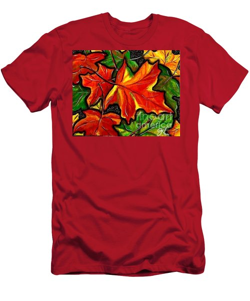 Men's T-Shirt (Slim Fit) featuring the painting Colorful Carpet by Jackie Carpenter