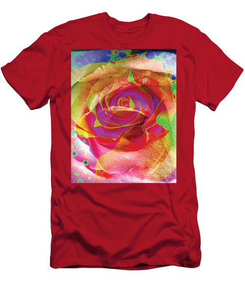 Colorfull Rose Men's T-Shirt (Athletic Fit)