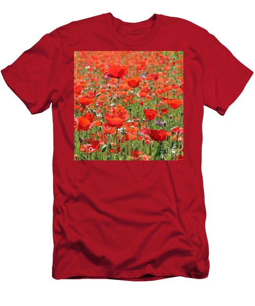Commemorative Poppies Men's T-Shirt (Athletic Fit)