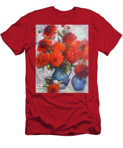 Complementary - Original Impressionist Painting - Still-life - Vibrant - Contemporary Men's T-Shirt (Athletic Fit)