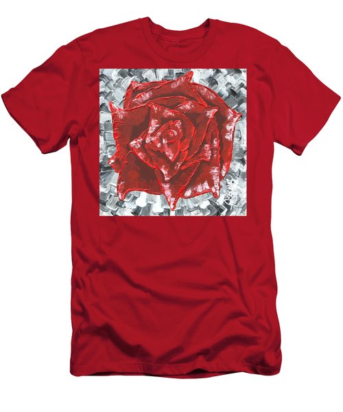 Concrete Rose  Men's T-Shirt (Athletic Fit)