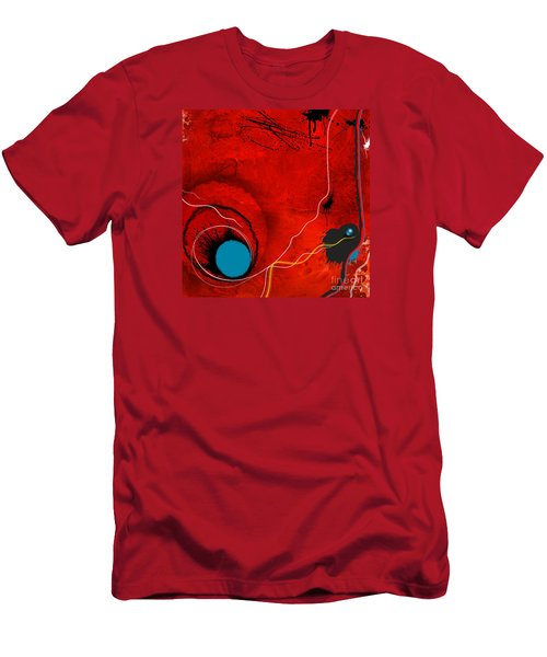 Men's T-Shirt (Slim Fit) featuring the painting Consciousness Of The Inanimate by Paul Davenport