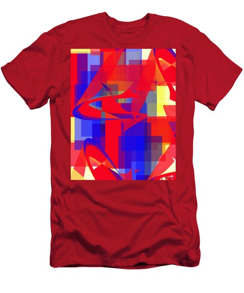 Men's T-Shirt (Slim Fit) featuring the digital art Copter Sunrise by Stephanie Grant
