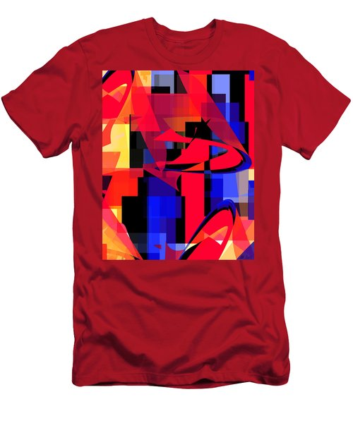 Men's T-Shirt (Slim Fit) featuring the digital art Copter Sunset by Stephanie Grant