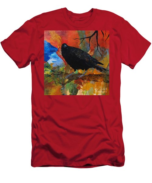 Crow On A Branch Men's T-Shirt (Athletic Fit)