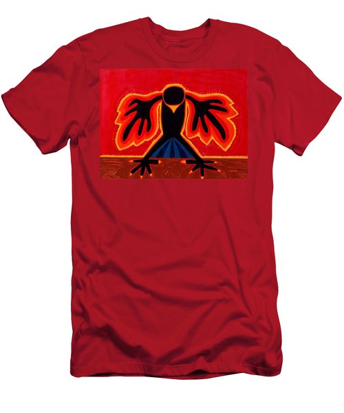 Crow Rising Original Painting Men's T-Shirt (Athletic Fit)