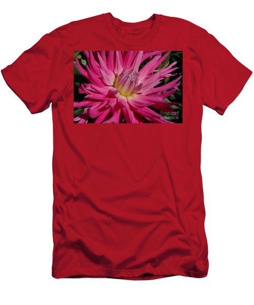 Men's T-Shirt (Slim Fit) featuring the photograph Dahlia X by Christiane Hellner-OBrien