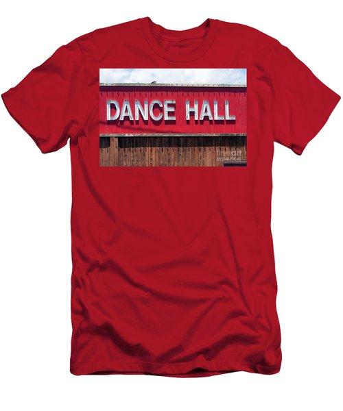 Men's T-Shirt (Slim Fit) featuring the photograph Dance Hall Sign by Gunter Nezhoda