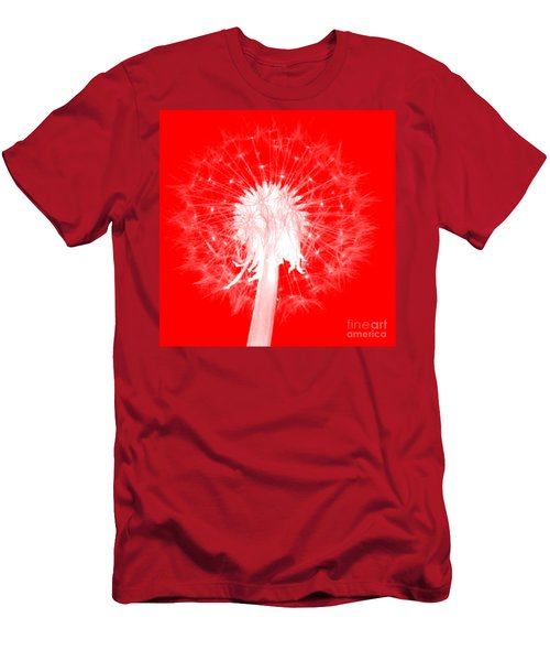 Men's T-Shirt (Athletic Fit) featuring the digital art Dandylion Red by Clayton Bruster