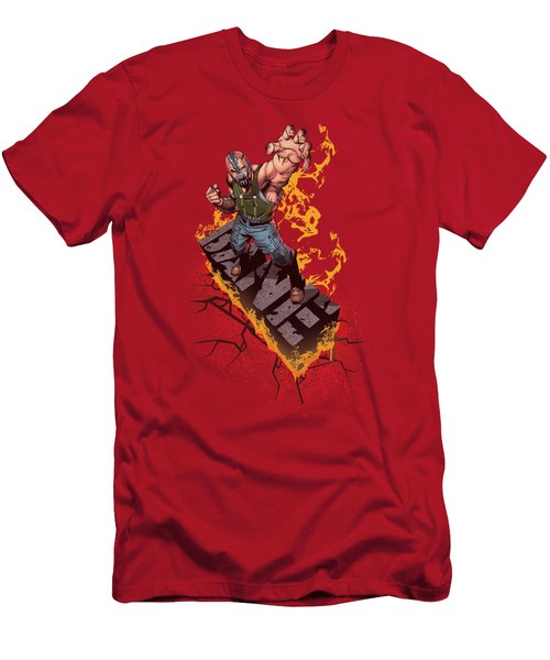 Dark Knight Rises - Bane On Fire Men's T-Shirt (Athletic Fit)