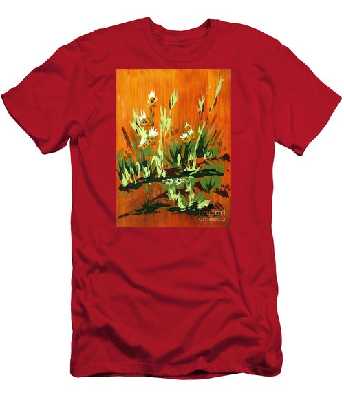 Men's T-Shirt (Slim Fit) featuring the painting Darlinettas by Holly Carmichael