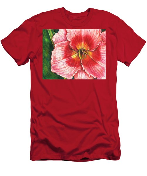 Daylily Delight Men's T-Shirt (Slim Fit) by Shana Rowe Jackson