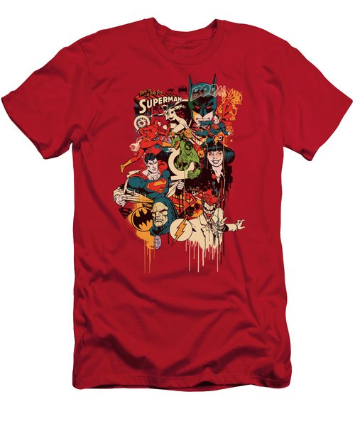 Dc - Dripping Characters Men's T-Shirt (Athletic Fit)
