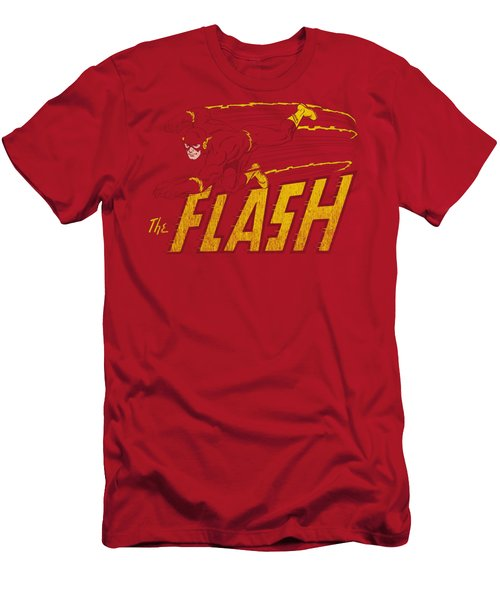 Dc - Flash Speed Distressed Men's T-Shirt (Athletic Fit)