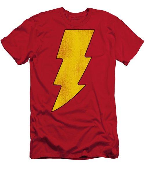 Dc - Shazam Logo Distressed Men's T-Shirt (Athletic Fit)