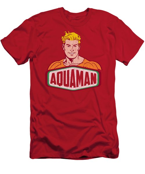 Dco - Aquaman Sign Men's T-Shirt (Athletic Fit)