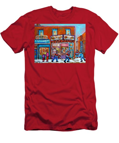 Decarie Hot Dog Restaurant Ville St. Laurent Montreal  Men's T-Shirt (Athletic Fit)