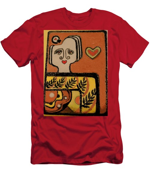 Deco Queen Of Hearts Men's T-Shirt (Slim Fit) by Carol Jacobs
