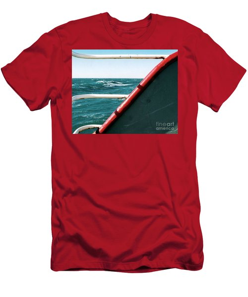 Men's T-Shirt (Slim Fit) featuring the photograph Deep Blue Sea Of The Gulf Of Mexico Off The Coast Of Louisiana Louisiana by Michael Hoard