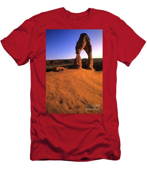 Delicate Arch Men's T-Shirt (Slim Fit) by Bob Christopher